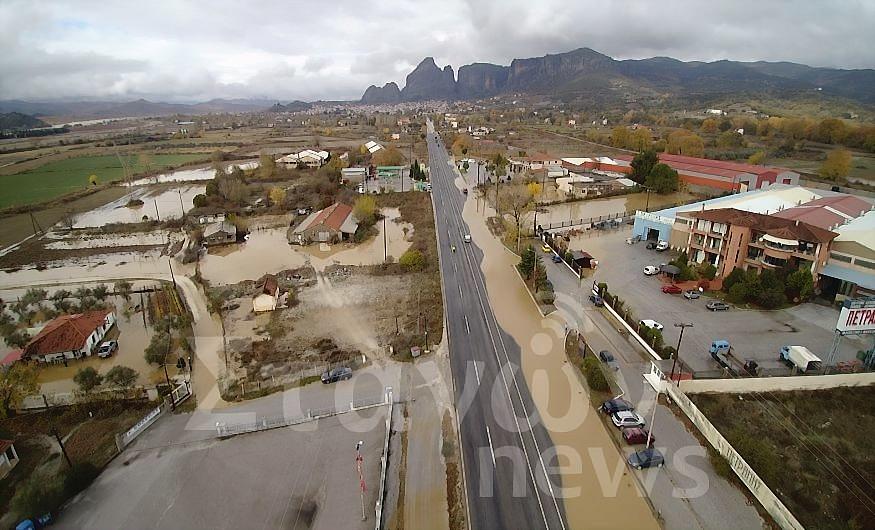 Βίντεο από τις μεγάλες καταστροφές από την νεροποντή  ( Drone Camera )