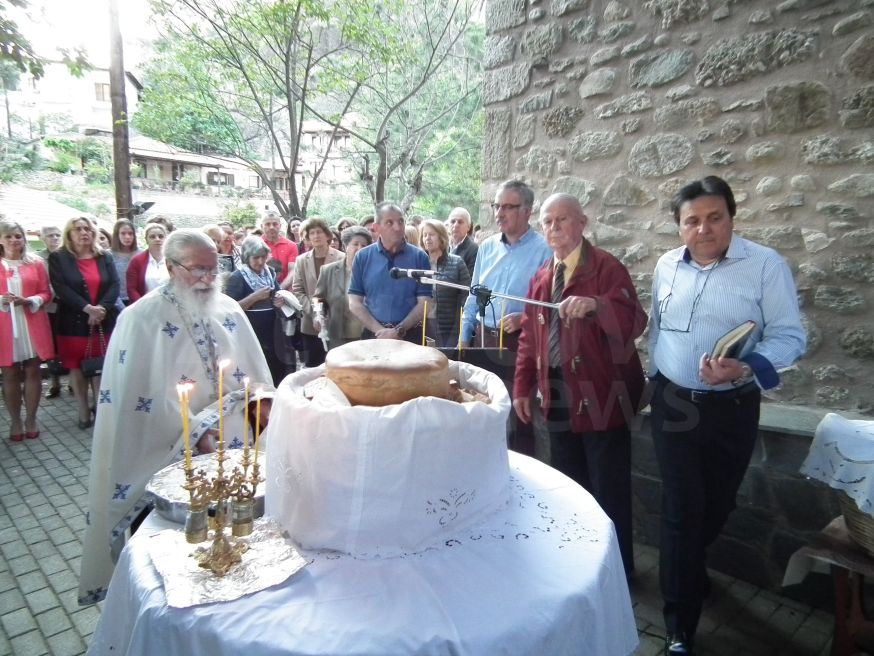 Ο Πανηγυρικός Εσπερινός στον Άγιο Γεώργιο Σοπωτού στη Καλαμπάκα και στη Διάβα