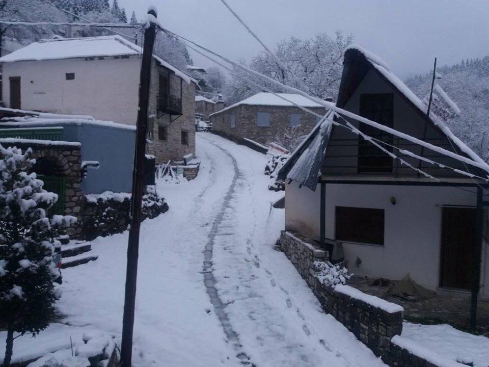 Απριλιάτικο χιονορεπορτάζ από τα ορεινά του Δήμου Μετεώρων !
