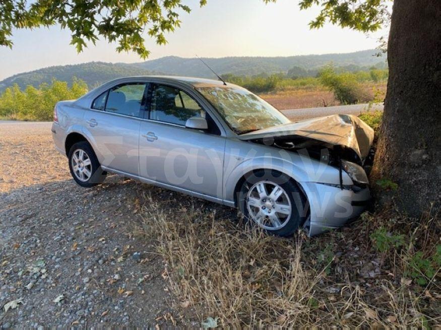 Τροχαίο ατύχημα μετά το τυροκομείο 'Καλτσούδας' στην Μύκανη Καλαμπάκας